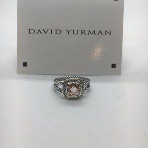 David Yurman Morganite Petite Albion RIng Size 7